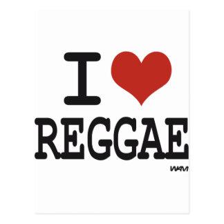 Liebe I Reggae Postkarte