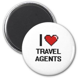 Liebe I Reise-Agenten Runder Magnet 5,7 Cm
