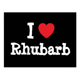 Liebe I Rhabarber-Herz T - Shirt Postkarte