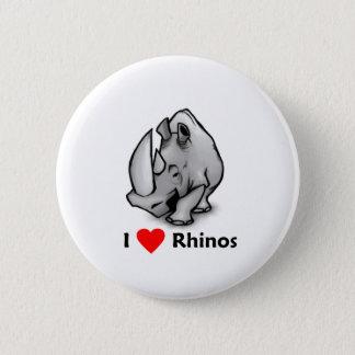 Liebe I Rhinos Runder Button 5,1 Cm