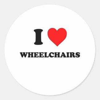 Liebe I Rollstühle Runder Aufkleber