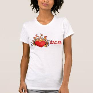 Liebe I Salsa T_Shirt für ihr Herz auf Feuer T-Shirt