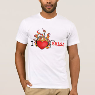 Liebe I Salsa-T - Shirt-Herz auf Feuer T-Shirt