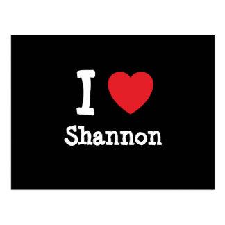Liebe I Shannon Herzgewohnheit personalisiert Postkarte
