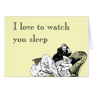 Liebe I, Sie aufzupassen zu schlafen Karte