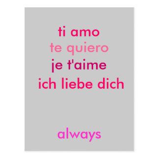 Liebe I Sie… egal was Sprache fertigen Sie Postkarten