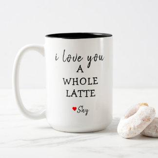 Liebe I Sie ein ganzes latte Zweifarbige Tasse