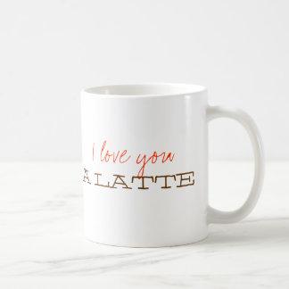 Liebe I Sie eine latte süße niedliche Kaffeetasse