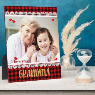 Liebe I Sie Großmutter-personalisierte Fotoplatte