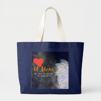 Liebe I Sie grungy Entwurf des Mammaherzens Jumbo Stoffbeutel