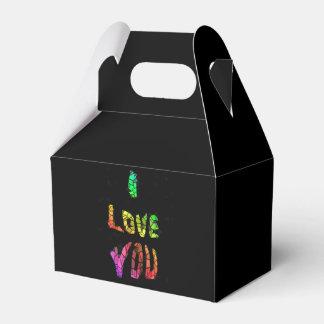 Liebe I Sie Hintergrund Geschenkschachtel