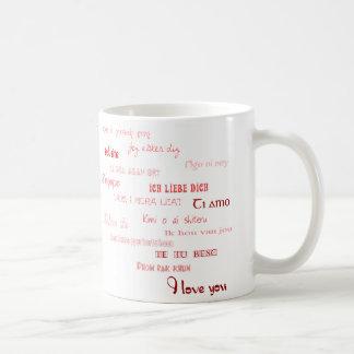 Liebe I Sie in den verschiedenen Sprachen Tasse