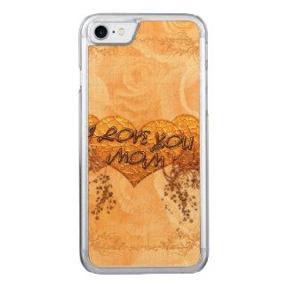 Liebe I Sie Mamma mit Herzen und Rosen Carved iPhone 8/7 Hülle