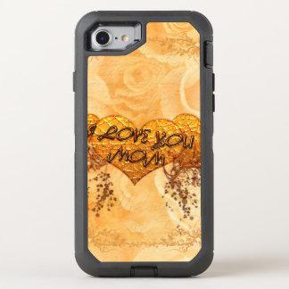 Liebe I Sie Mamma mit Herzen und Rosen OtterBox Defender iPhone 8/7 Hülle