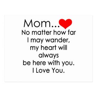 Liebe I Sie Mamma Postkarte