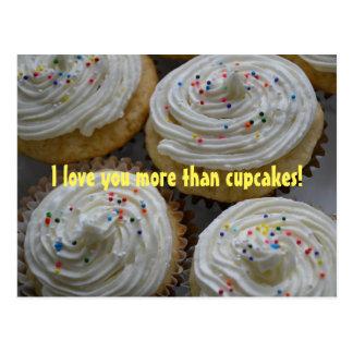 Liebe I Sie mehr als… Kuchen-Postkarte Postkarte