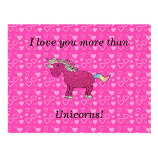 Liebe I Sie mehr als Unicorns Postkarte