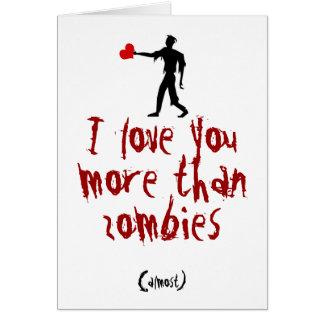 Liebe I Sie mehr als Zombies Karte