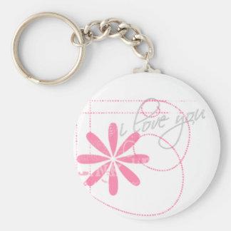 Liebe I Sie Schlüsselkette Standard Runder Schlüsselanhänger