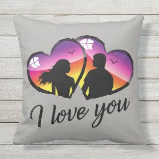 Liebe I Sie Sonnenuntergang Kissen