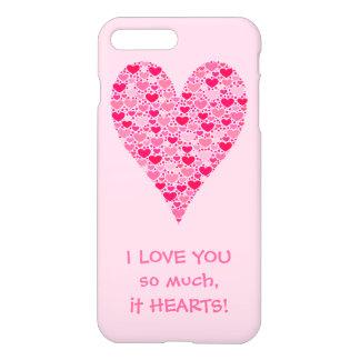 Liebe I Sie soviel es Herzen kleine Herz-großes iPhone 8 Plus/7 Plus Hülle