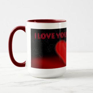 Liebe I Sie Tasse mit Jack Russell und großem