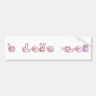 Liebe I Sie Zeichensprache Autoaufkleber