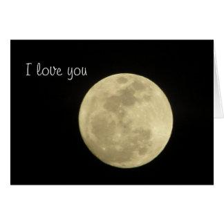 Liebe I Sie zum Mond und zur Rückseite Grußkarte