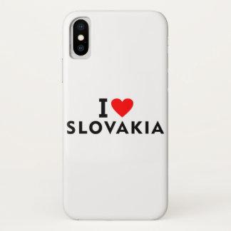 Liebe I Slowakei-Land wie Herzreisetourismus iPhone X Hülle