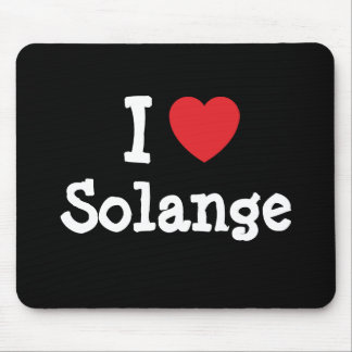 Liebe I Solange-Herz T - Shirt Mousepad