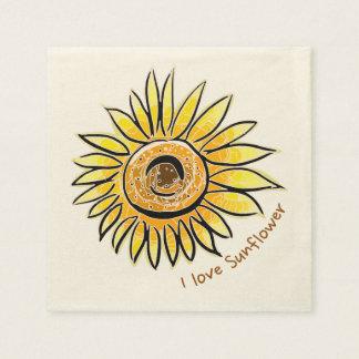 Liebe I Sonnenblume Serviette