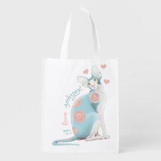 Liebe I sphynx Katze Einkaufstaschen