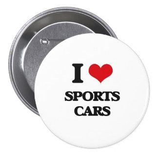 Liebe I Sport-Autos Runder Button 7,6 Cm