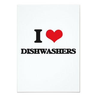 Liebe I Spülmaschinen Personalisierte Ankündigungskarte
