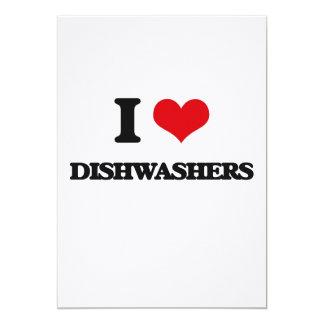 Liebe I Spülmaschinen Personalisierte Ankündigungskarten