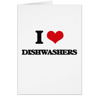 Liebe I Spülmaschinen Grußkarte