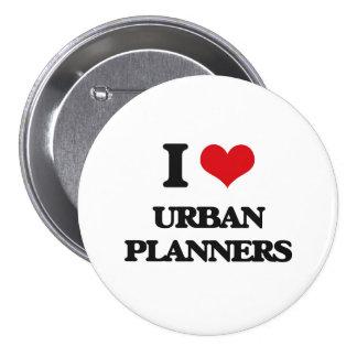 Liebe I städtische Planer Anstecknadelbutton