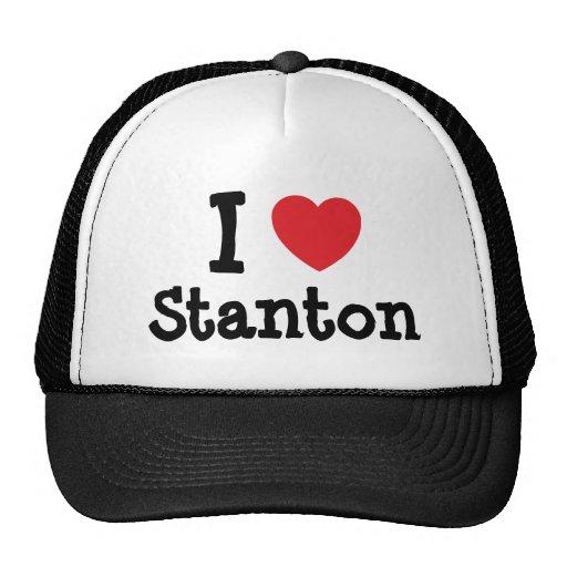 Liebe I Stanton Herzgewohnheit personalisiert Baseball Mützen