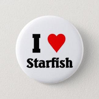 Liebe I Starfish Runder Button 5,1 Cm