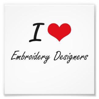 Liebe I Stickerei-Designer Kunstphotos