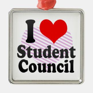 Liebe I Studenten-Rat Silbernes Ornament