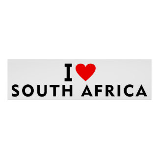 Liebe I Südafrika-Land wie Herzreiseausflug Poster