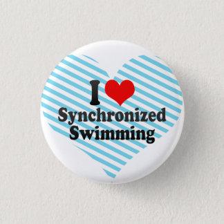 Liebe I synchronisierte Schwimmen Runder Button 3,2 Cm