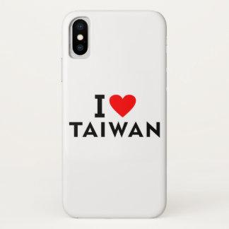Liebe I Taiwan-Land wie Herzreisetourismus iPhone X Hülle