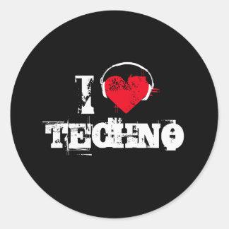 Liebe I techno Runder Sticker