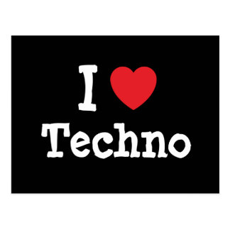 Liebe I Techno Herzgewohnheit personalisiert Postkarten