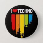 Liebe I techno Runder Button 7,6 Cm