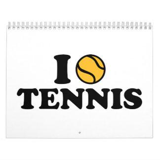 Liebe I Tennis Wandkalender