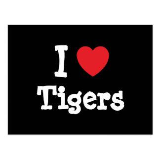 Liebe I Tiger-Herzgewohnheit personalisiert Postkarte