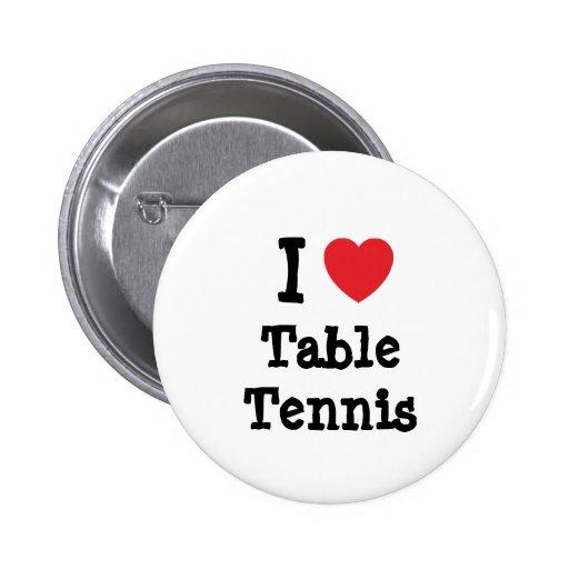 Liebe I Tischtennis-Herzgewohnheit personalisiert Buttons